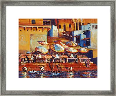 Golden Ganges Framed Print