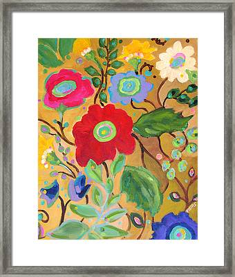 Golden Garden Framed Print by Karen Fields