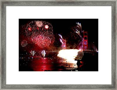 Golden Gate 75th Anniversary 2 Framed Print