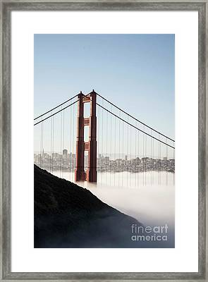 Framed Print featuring the photograph Golden Gate And Marin Highlands by David Bearden
