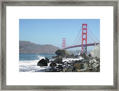 Golden Gate Beach Framed Print