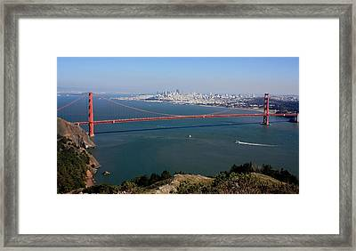 Golden Gate Bidge And Bay Framed Print by Luiz Felipe Castro