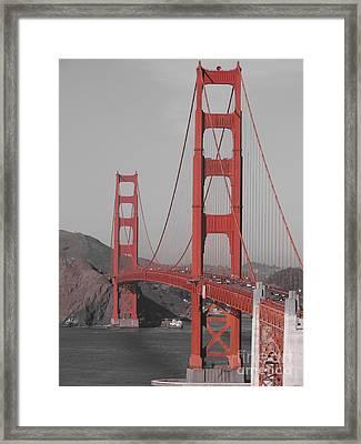 Golden Gate Black And White Framed Print by Jeff White