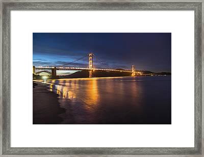 Golden Gate Blue Hour Framed Print by John McGraw