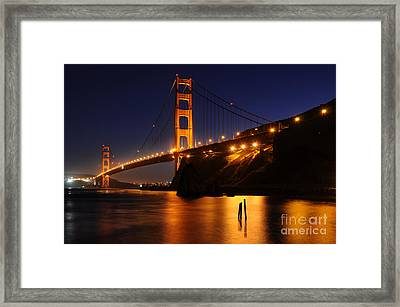 Framed Print featuring the photograph Golden Gate Bridge 1 by Vivian Christopher