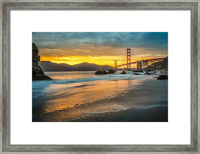 Golden Gate Bridge After Sunset Framed Print by James Udall
