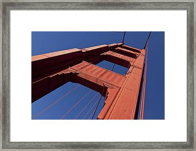 Golden Gate Bridge At An Angle Framed Print by Garry Gay