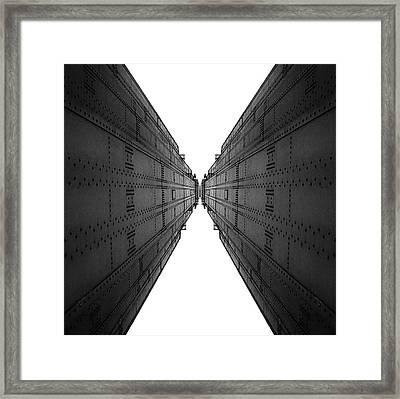 Golden Gate Bridge Black And White Reflection Framed Print by Pelo Blanco Photo