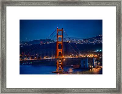 Golden Gate Bridge Blue Hour Framed Print by Paul Freidlund
