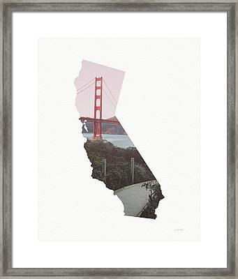 Framed Print featuring the mixed media Golden Gate Bridge California- Art By Linda Woods by Linda Woods