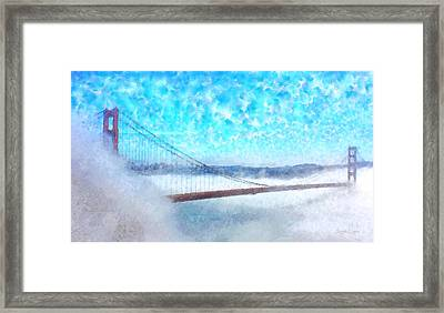 Golden Gate Bridge - Da Framed Print