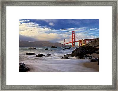 Golden Gate Bridge Framed Print by Evgeny Vasenev