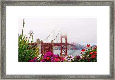 Golden Gate Bridge Flowers 2 Framed Print