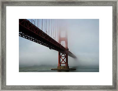 Framed Print featuring the photograph Golden Gate Bridge Fog 2 by Stephen Holst