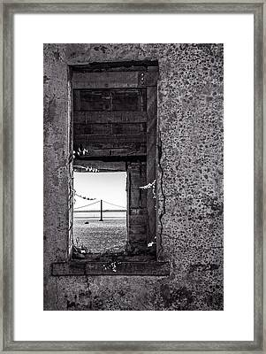 Golden Gate Bridge From Alcatraz Framed Print by Mike Burgquist