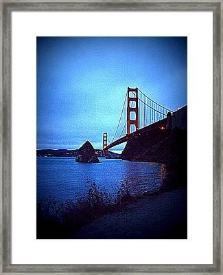 Golden Gate Bridge From Cavallo Point - Fort Baker - Sausalito, California - Below Vista Point Photo Framed Print