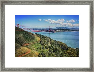 Golden Gate Bridge From The  Marin Headlands Framed Print by Jennifer Rondinelli Reilly - Fine Art Photography