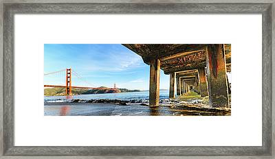 Golden Gate Bridge From Under Fort Point Pier Framed Print