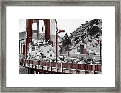 Golden Gate Bridge Street View Framed Print