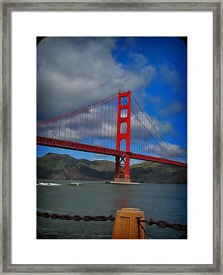 Golden Gate Bridge Framed Print by Kim Pascu