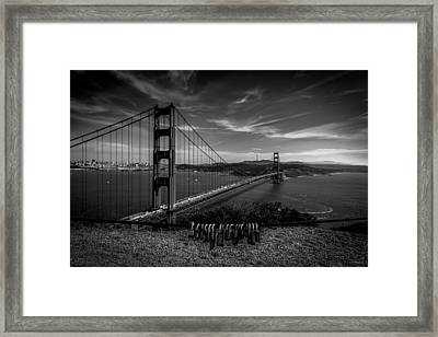 Golden Gate Bridge Locks Of Love Framed Print
