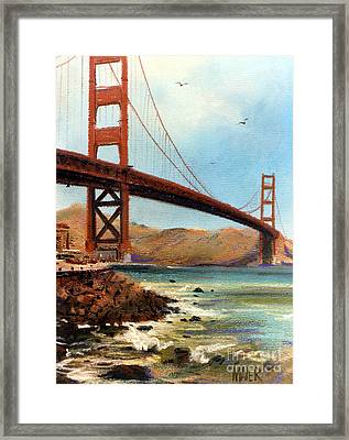 Golden Gate Bridge Looking North Framed Print
