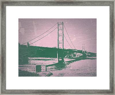 Golden Gate Bridge Framed Print by Naxart Studio