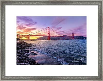 Golden Gate Bridge Framed Print by Edward Fielding