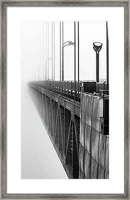 Golden Gate Bridge Portrait  Framed Print