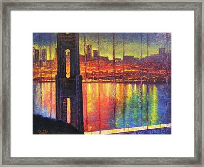 Golden Gate Bridge Framed Print by Raffi Jacobian