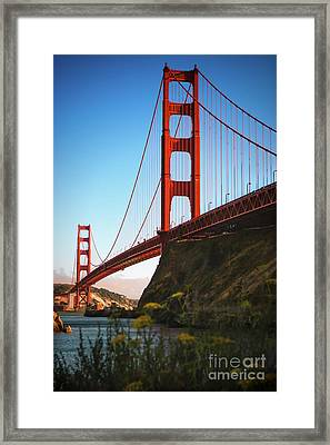 Golden Gate Bridge Sausalito Framed Print by Doug Sturgess