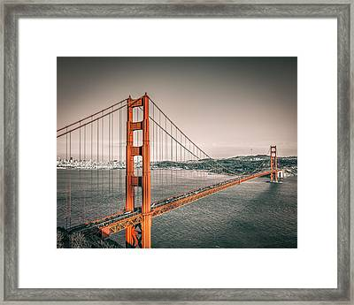 Golden Gate Bridge Selective Color Framed Print