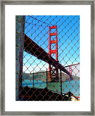 Golden Gate Bridge Sf Framed Print by Nick Diemel