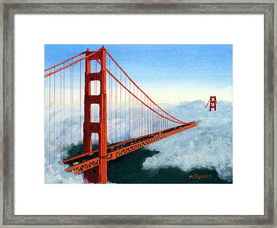 Golden Gate Bridge Sunset Framed Print