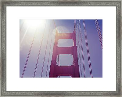Golden Gate Bridge The Iconic Landmark Of San Francisco Framed Print