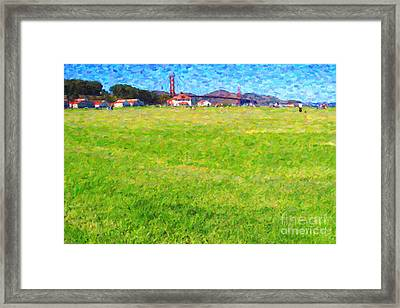Golden Gate Bridge Viewed From Crissy Fields Framed Print by Wingsdomain Art and Photography