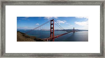 Golden Gate Bridge Viewed From Hendrik Framed Print