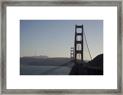 Golden Gate Bridge Framed Print by Wes Shinn
