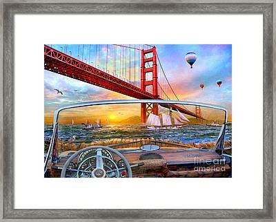 Golden Gate Car Framed Print