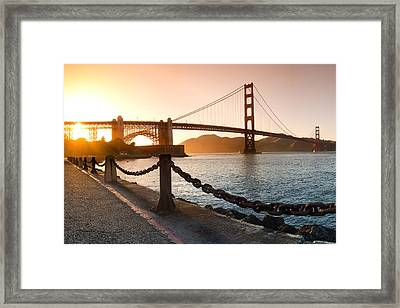 Golden Gate Chain Link Framed Print by Sean Davey