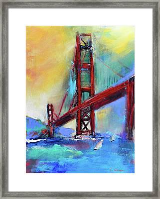 Golden Gate Colors Framed Print