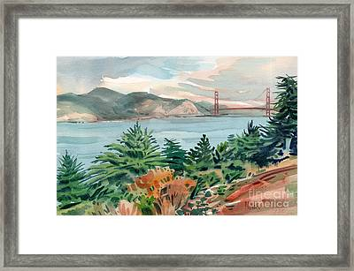 Golden Gate Framed Print by Donald Maier