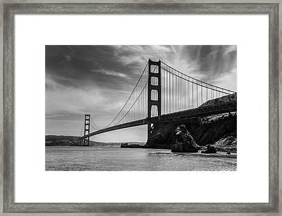Golden Gate East Bw Framed Print
