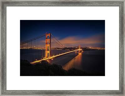 Golden Gate Framed Print by Edgars Erglis