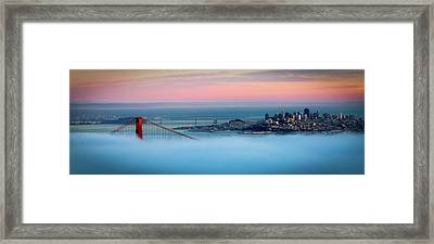 Golden Gate Foggy At Morning Framed Print by Mark Brodkin Photography