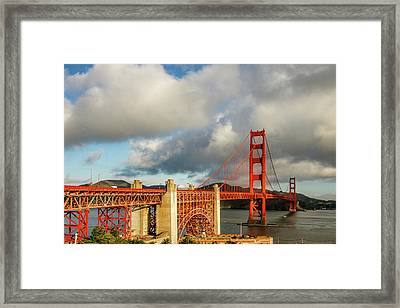 Golden Gate From Above Ft. Point Framed Print by Bill Gallagher