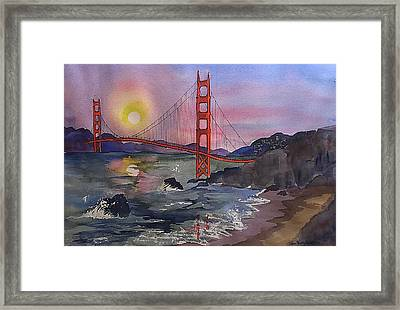 Golden Gate From Baker Beach Framed Print