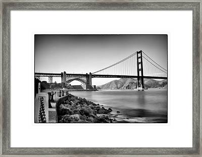 Golden Gate From Fort Point Framed Print by Tanya Harrison