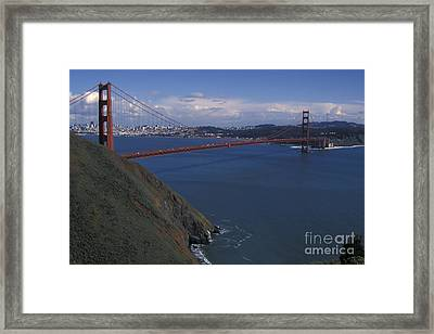 Golden Gate From Marin Headlands Framed Print