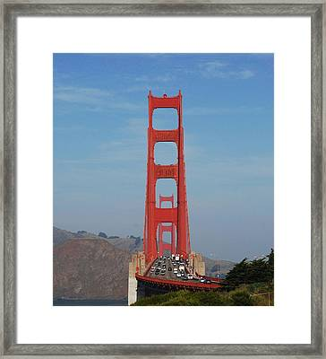 Golden Gate Head On Framed Print